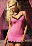 Sweetie Pie Chemise And Thong-pink O/s